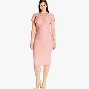 Stop Staring Lydia Pink 1940s Vintage Dress